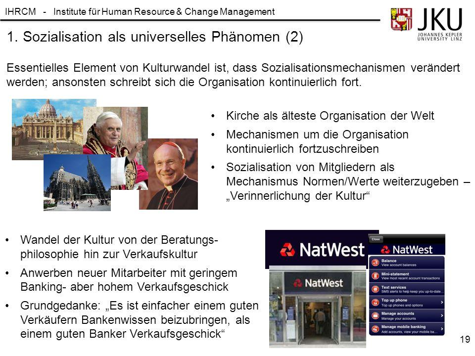 1. Sozialisation als universelles Phänomen (2)