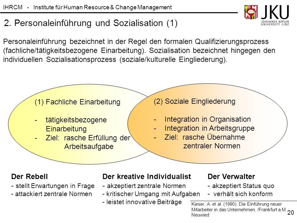 2. Personaleinführung und Sozialisation (1)