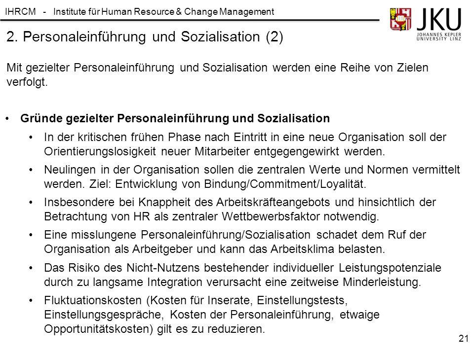 2. Personaleinführung und Sozialisation (2)
