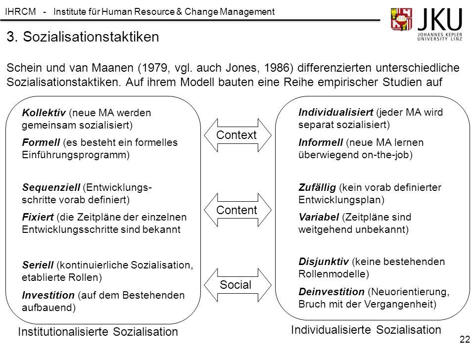 3. Sozialisationstaktiken