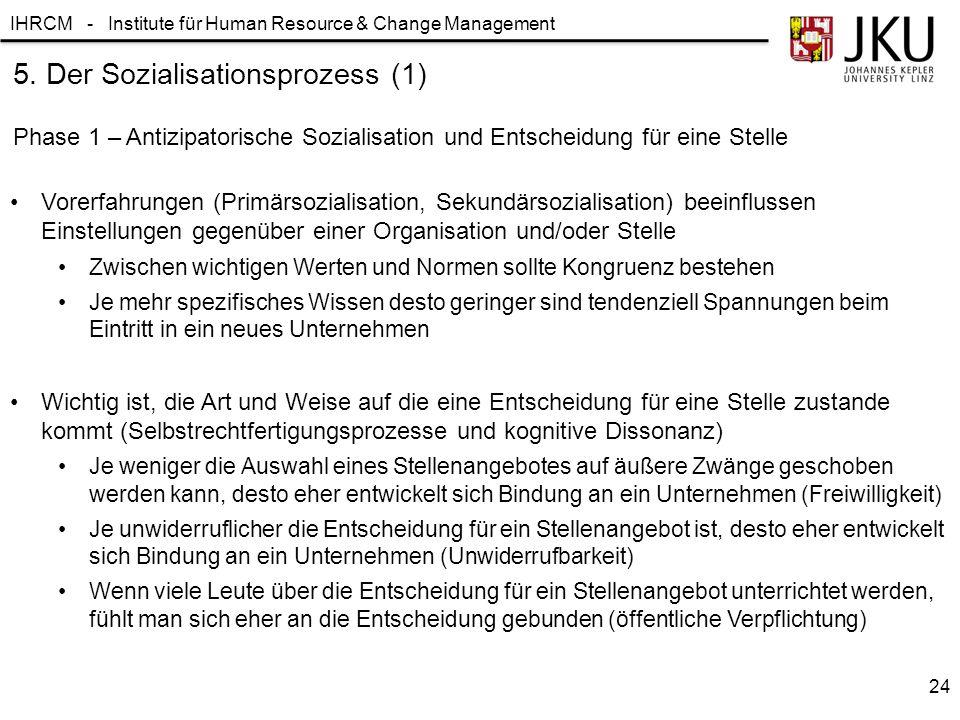 5. Der Sozialisationsprozess (1)