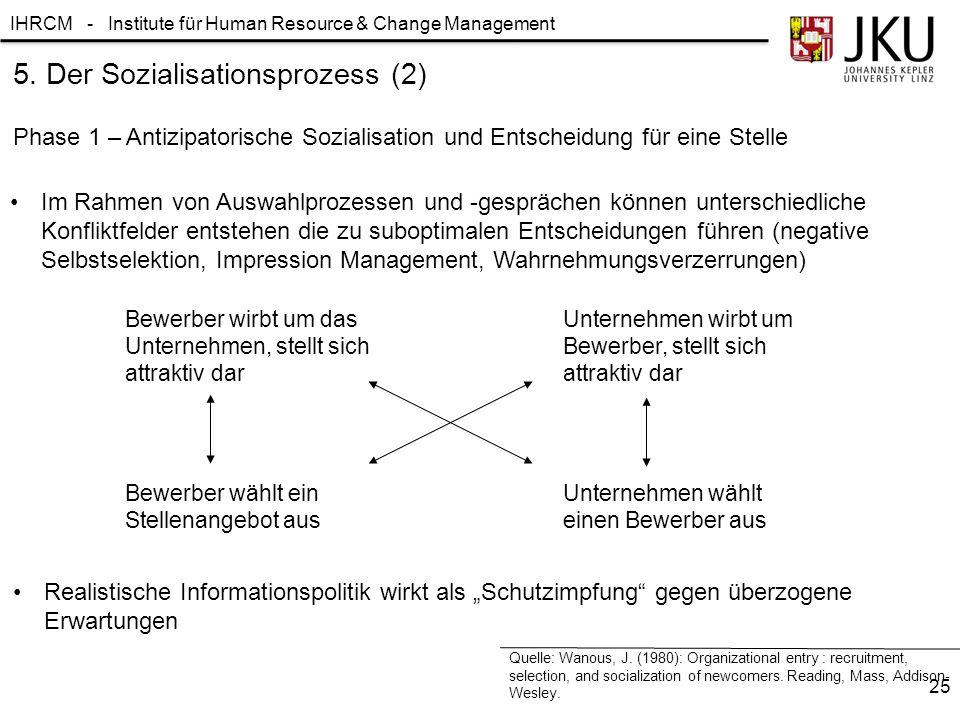 5. Der Sozialisationsprozess (2)