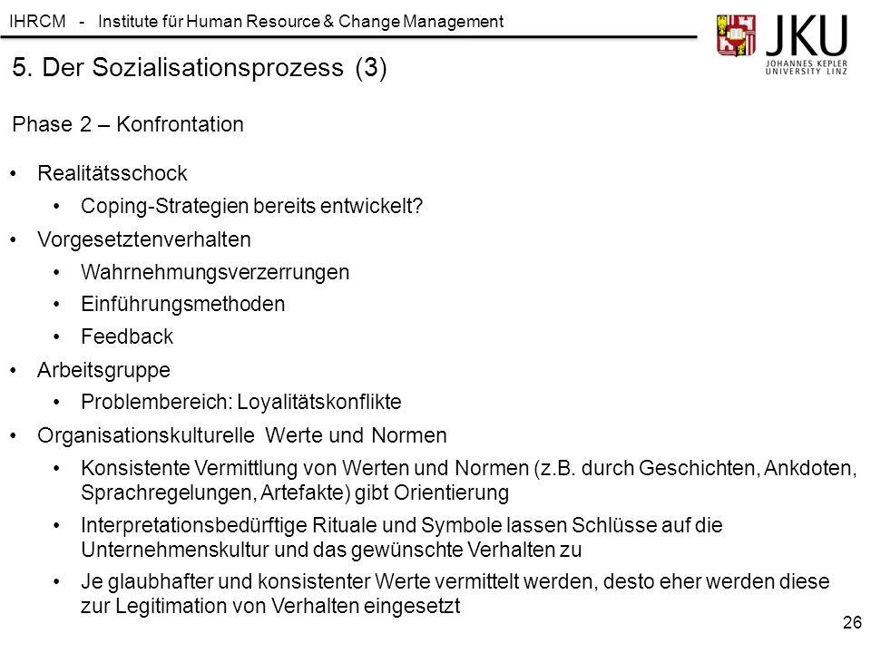5. Der Sozialisationsprozess (3)