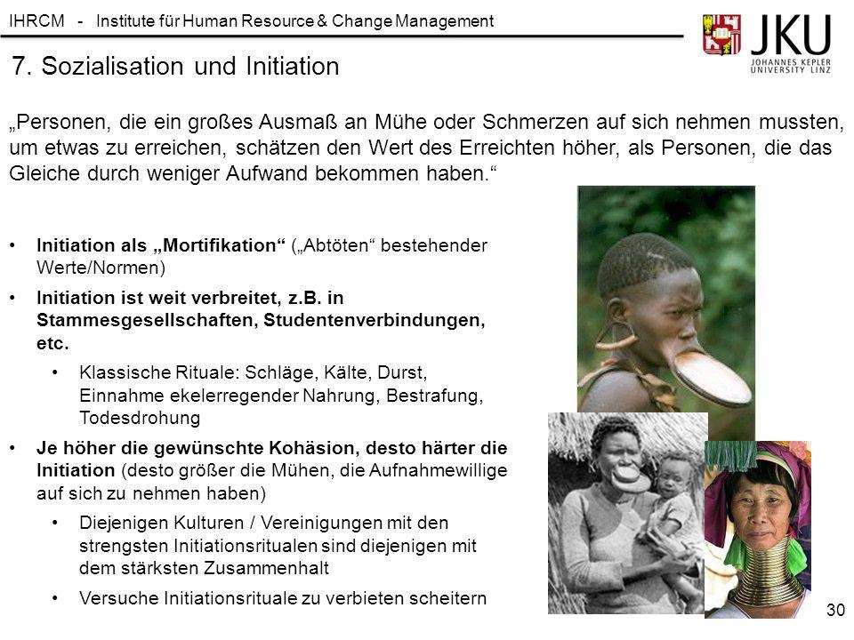 7. Sozialisation und Initiation