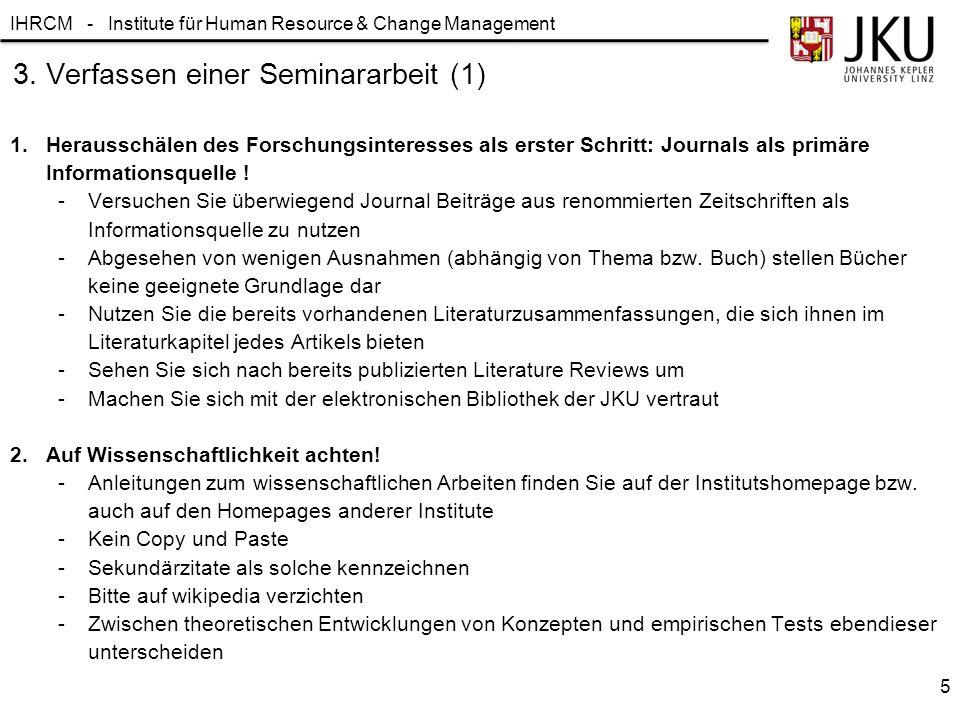 3. Verfassen einer Seminararbeit (1)