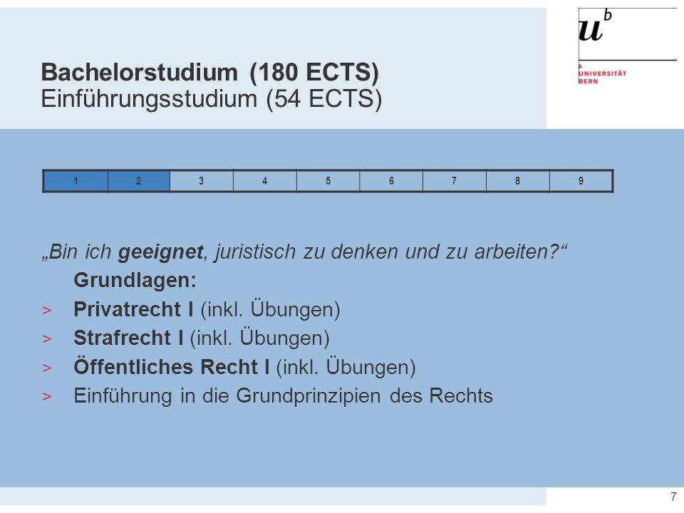 Bachelorstudium (180 ECTS) Einführungsstudium (54 ECTS)