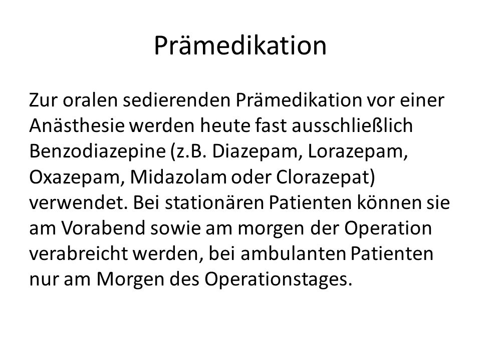 Prämedikation