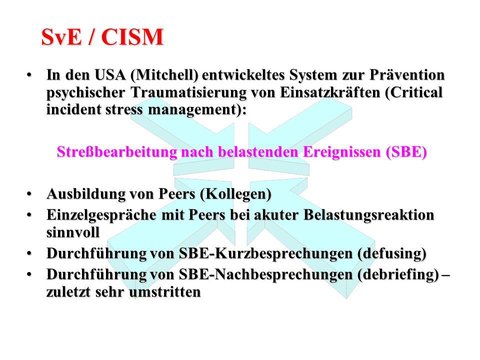 Streßbearbeitung nach belastenden Ereignissen (SBE)