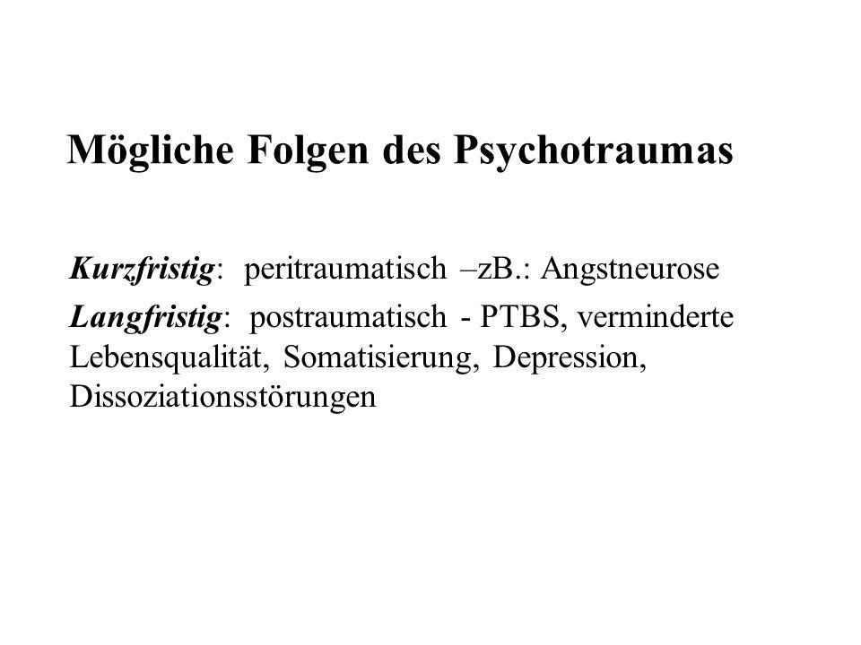 Mögliche Folgen des Psychotraumas