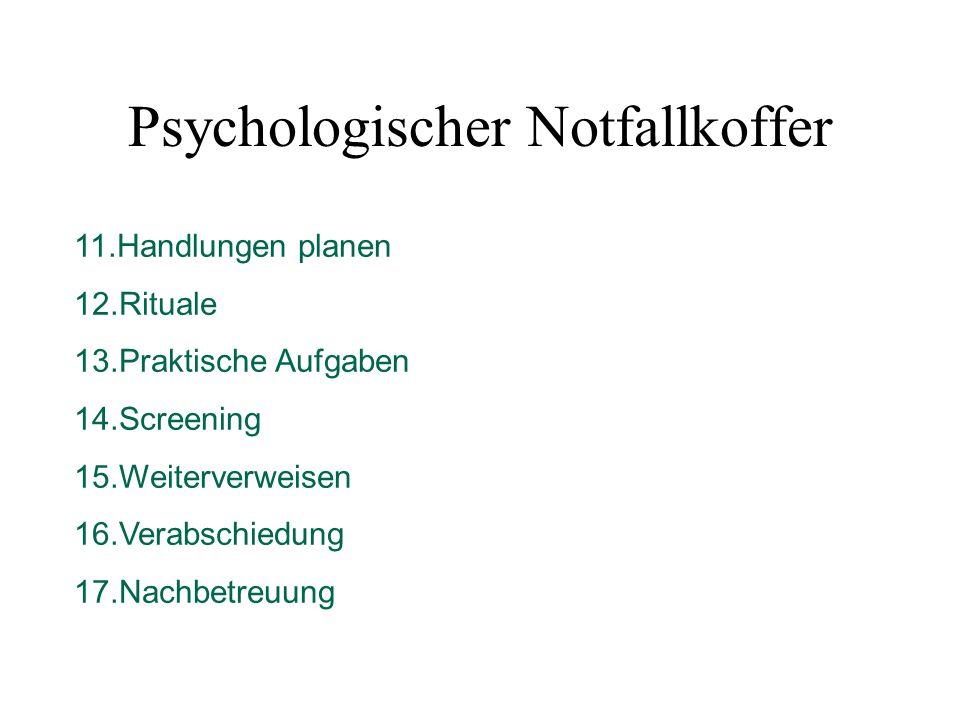 Psychologischer Notfallkoffer