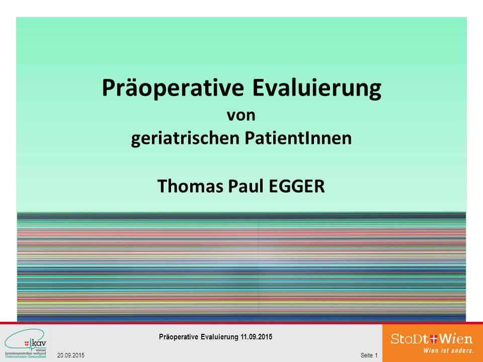 Präoperative Evaluierung 11.09.2015