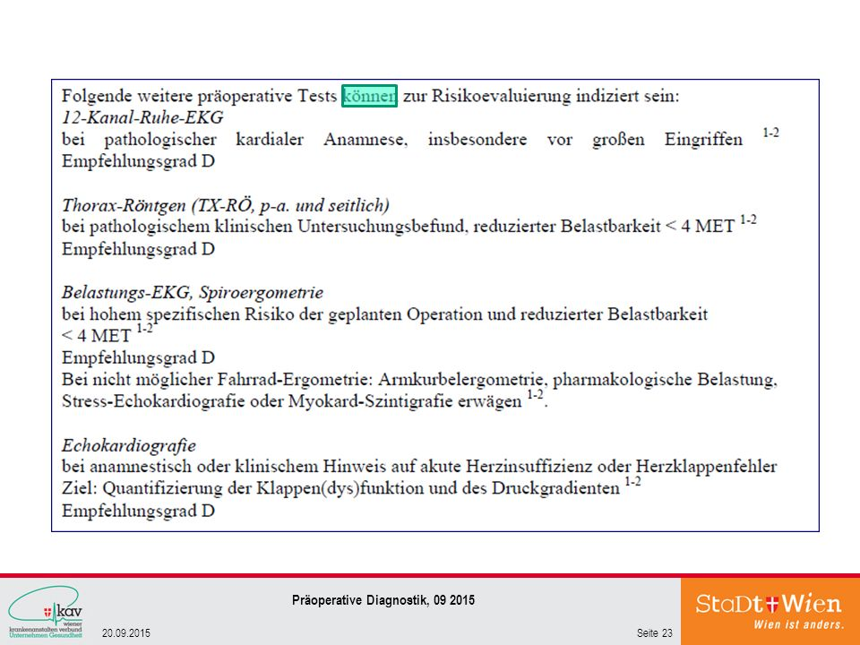 Präoperative Diagnostik,