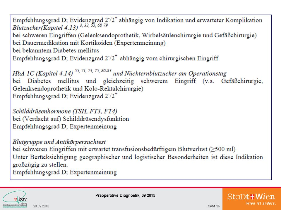 Präoperative Diagnostik, 09 2015