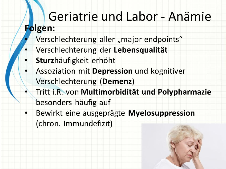 Geriatrie und Labor - Anämie