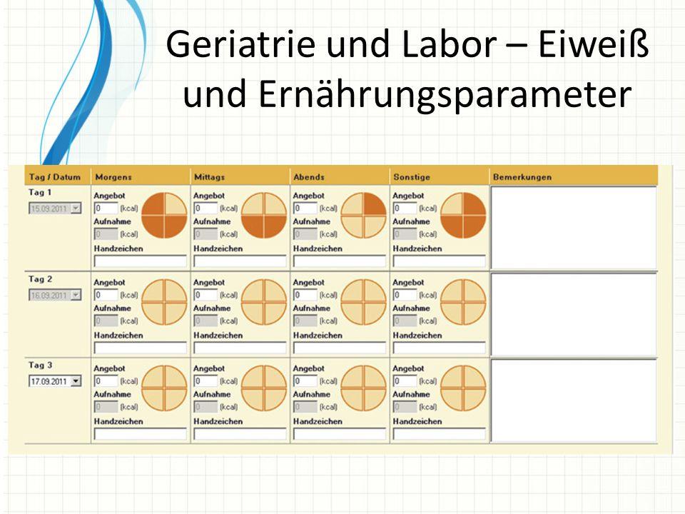 Geriatrie und Labor – Eiweiß und Ernährungsparameter