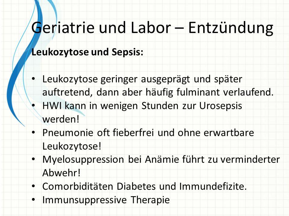 Geriatrie und Labor – Entzündung
