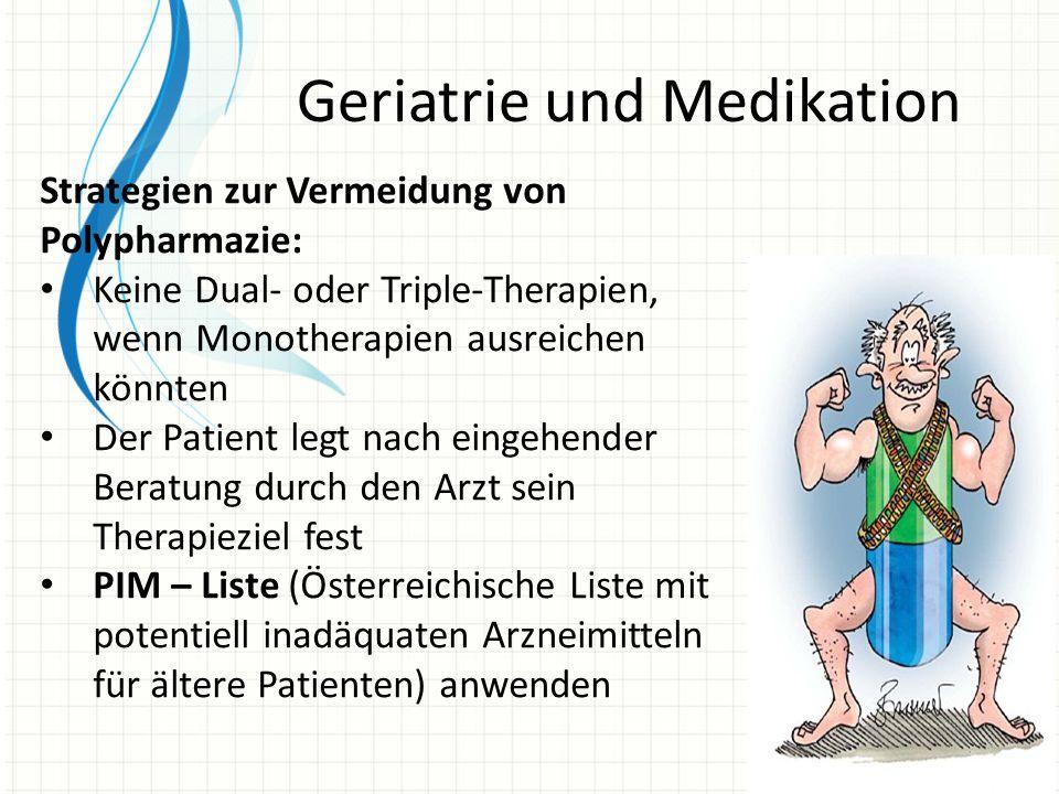 Geriatrie und Medikation