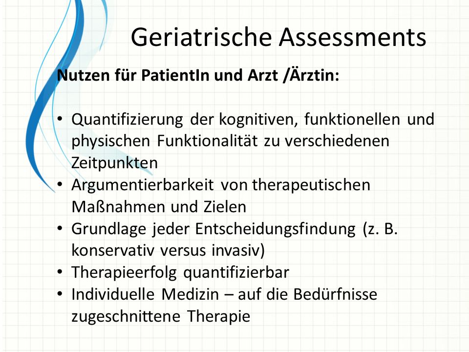 Geriatrische Assessments