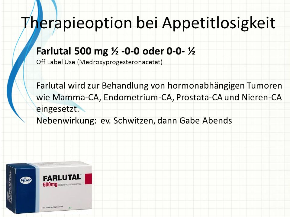 Therapieoption bei Appetitlosigkeit