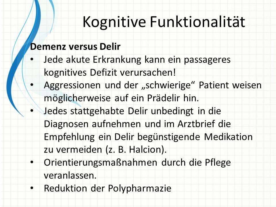 Kognitive Funktionalität