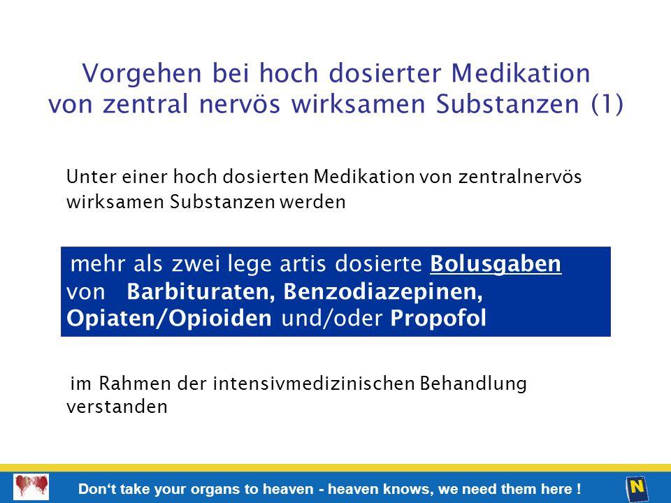 Vorgehen bei hoch dosierter Medikation von zentral nervös wirksamen Substanzen (1)