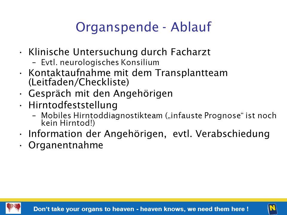 Organspende - Ablauf Klinische Untersuchung durch Facharzt