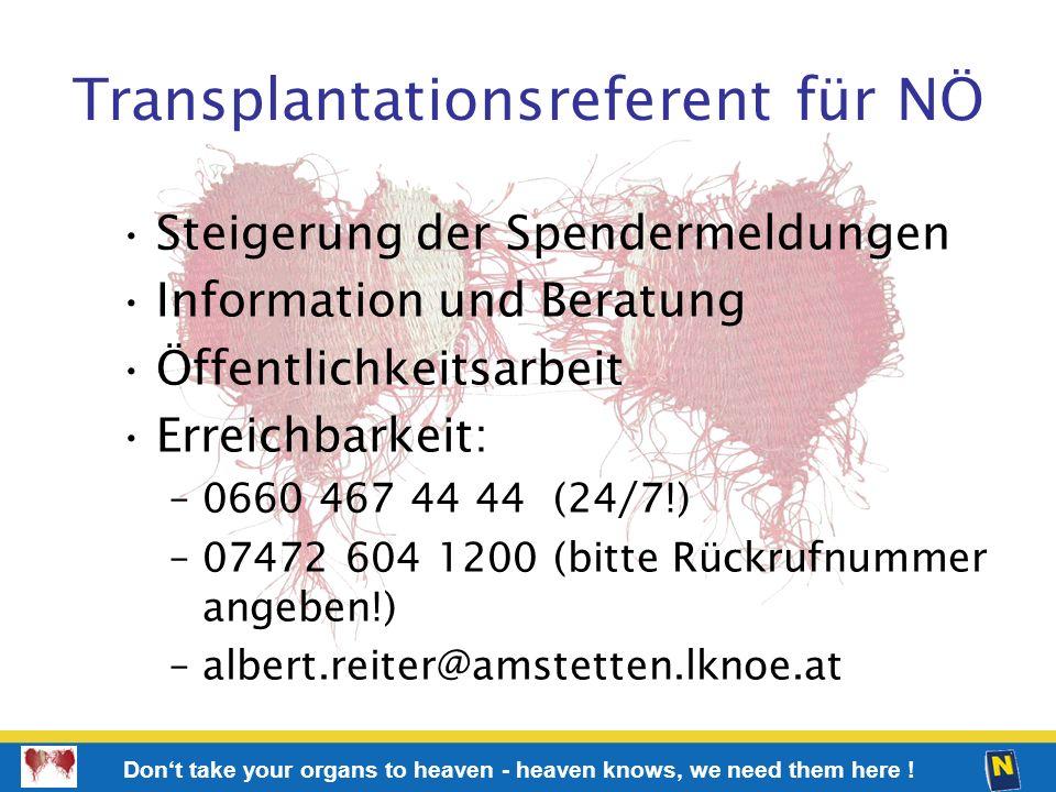 Transplantationsreferent für NÖ