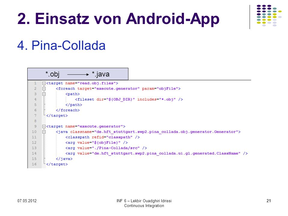 2. Einsatz von Android-App