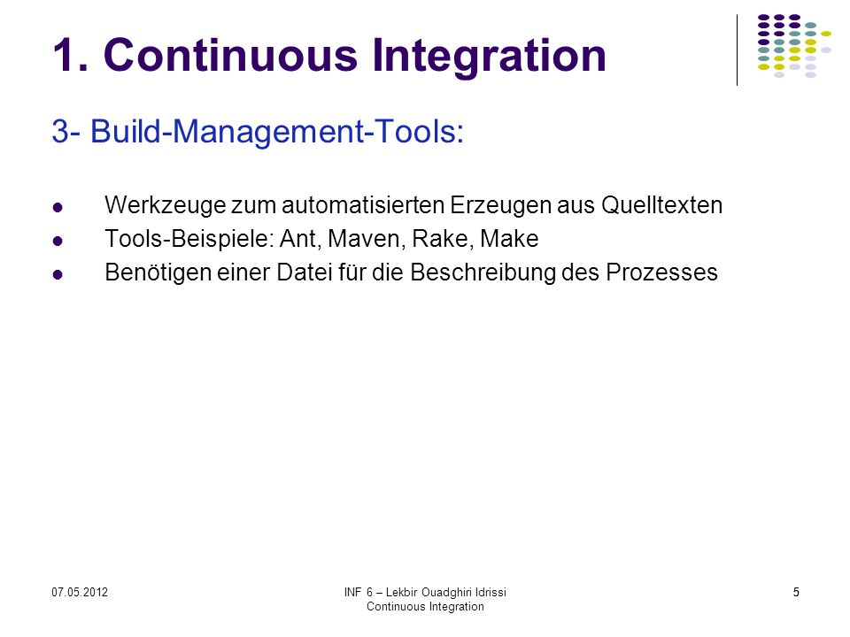1. Continuous Integration