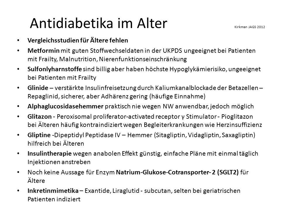 Antidiabetika im Alter Kirkman JAGS 2012