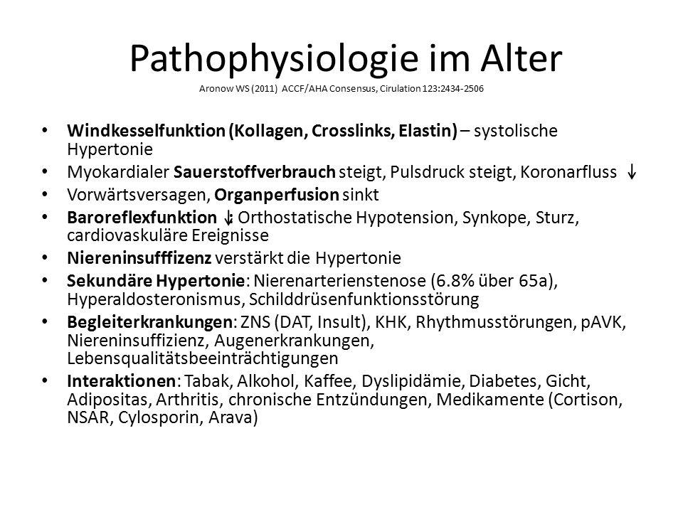 Pathophysiologie im Alter Aronow WS (2011) ACCF/AHA Consensus, Cirulation 123:2434-2506