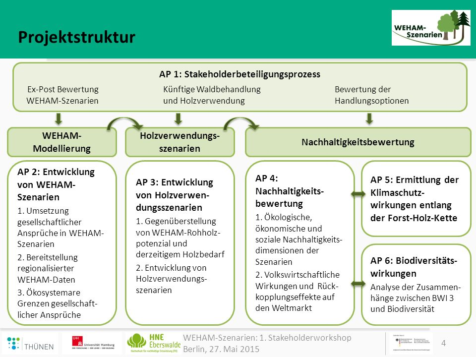 Projektstruktur AP 1: Stakeholderbeteiligungsprozess