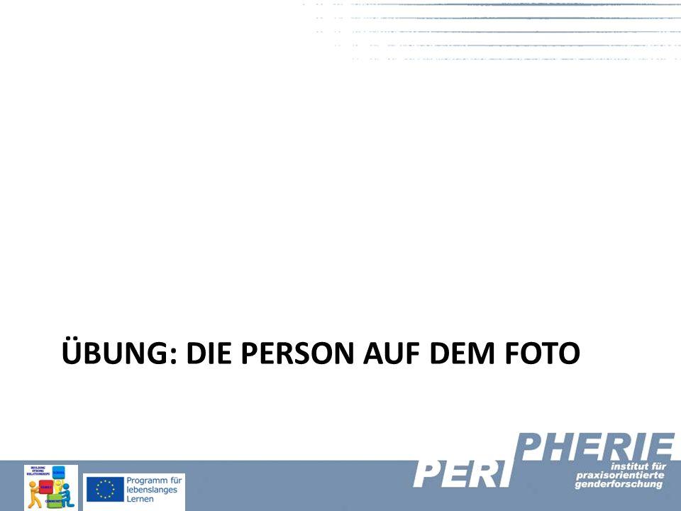 Übung: Die Person auf dem Foto