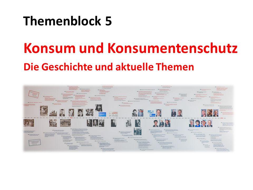 Konsum und Konsumentenschutz Die Geschichte und aktuelle Themen