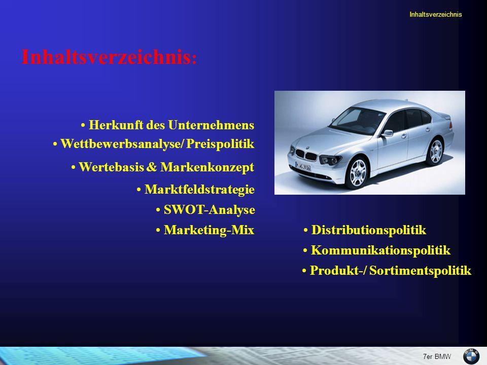 Inhaltsverzeichnis: Herkunft des Unternehmens