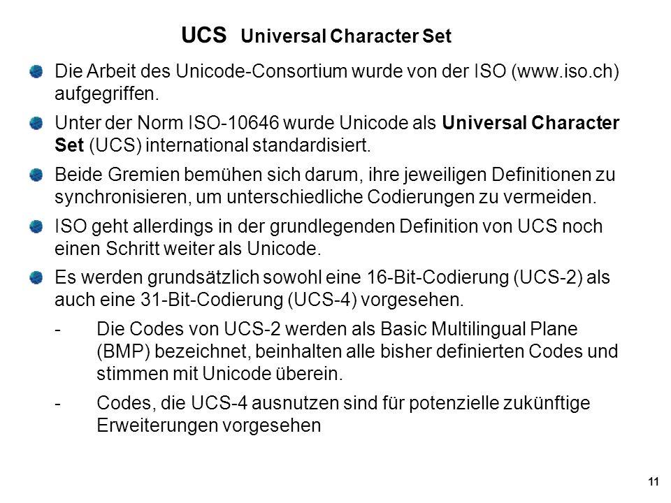 UCS Universal Character Set