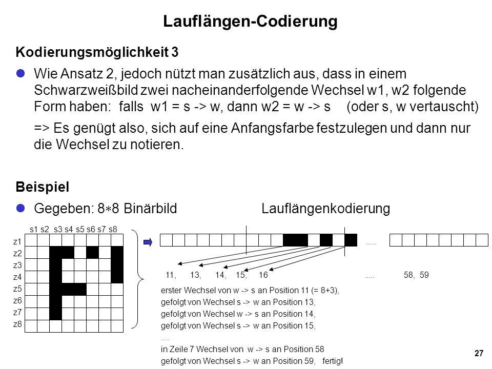 Lauflängen-Codierung