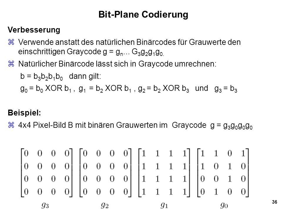 Bit-Plane Codierung Verbesserung