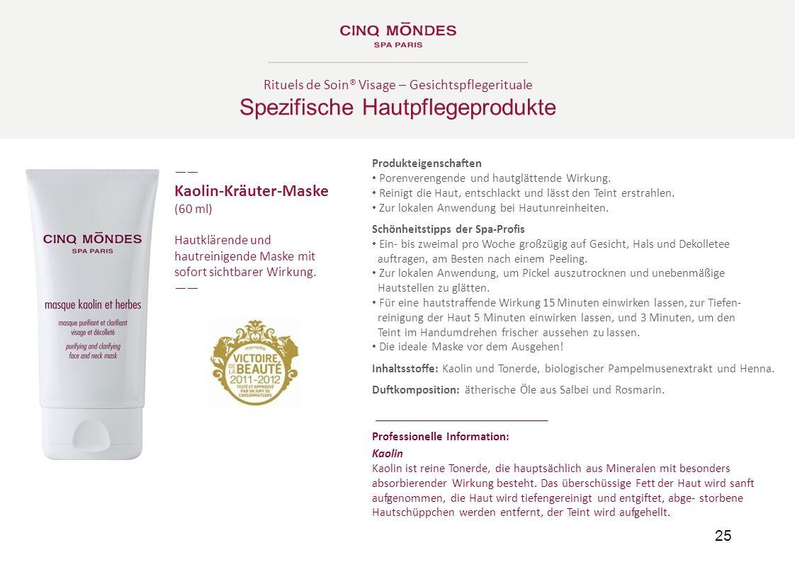 Spezifische Hautpflegeprodukte