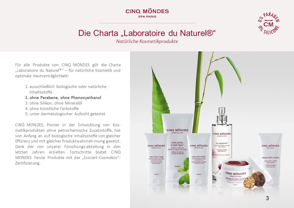 "Die Charta ""Laboratoire du Naturel®"