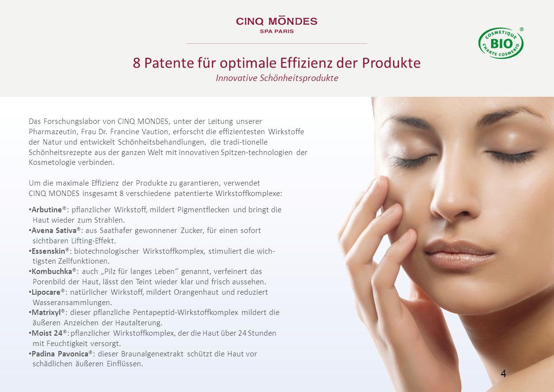 8 Patente für optimale Effizienz der Produkte