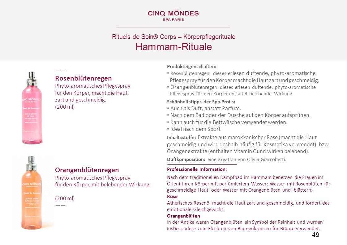 Hammam-Rituale Hammam-Rituale Rosenblütenregen Orangenblütenregen