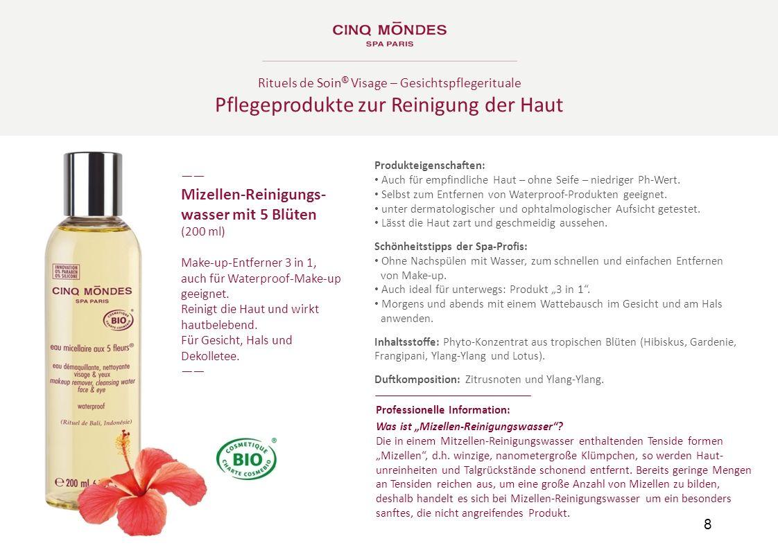 Pflegeprodukte zur Reinigung der Haut