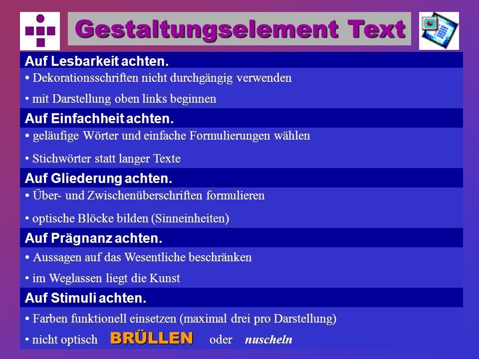 Gestaltungselement Text
