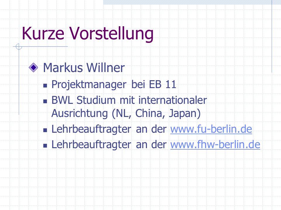 Kurze Vorstellung Markus Willner Projektmanager bei EB 11