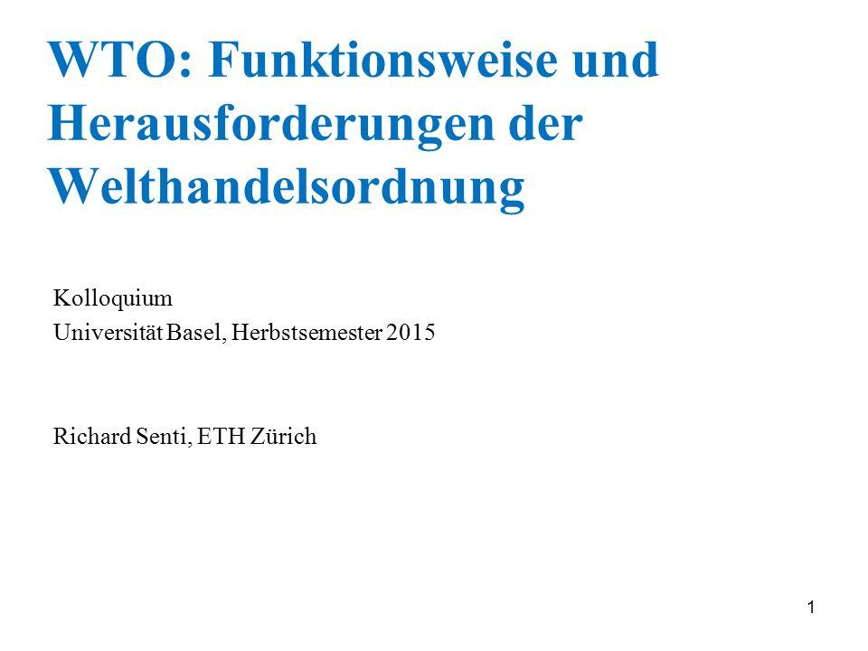 WTO: Funktionsweise und Herausforderungen der Welthandelsordnung
