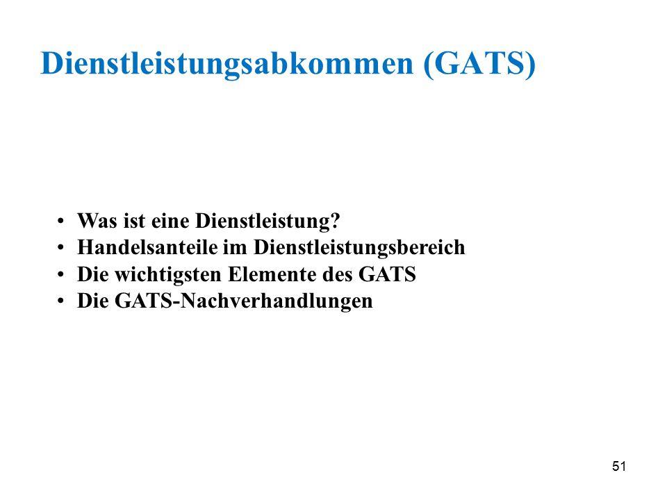 Dienstleistungsabkommen (GATS)