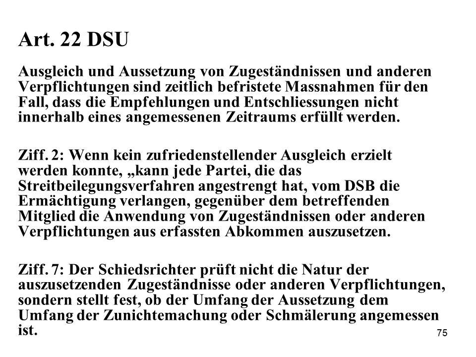 Art. 22 DSU
