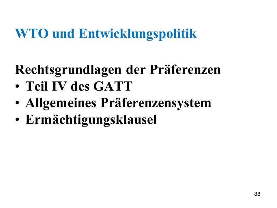WTO und Entwicklungspolitik