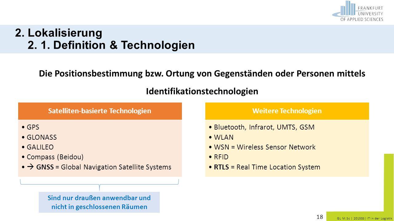 2. Lokalisierung 2. 1. Definition & Technologien
